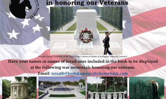 Honoring The Veterans On Behalf Of The Equine Community