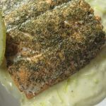 Salmon With Creamed Leeks: From The Olympic Museum In Lausanne Switzerland